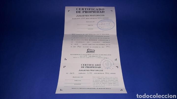 Juguetes antiguos Payá: Coches Carreras Pulga 665, Paya Reedición numerada Juguete Histórico, Ibi Alicante España. Año 1998. - Foto 6 - 175412749