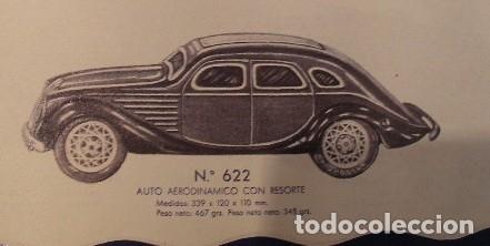 Juguetes antiguos Payá: PAYA Auto CHRYSLER AIRFLOW Hojalata Litografiada. 1930s. A Cuerda. Funciona Ref. 622 - Foto 6 - 165752630