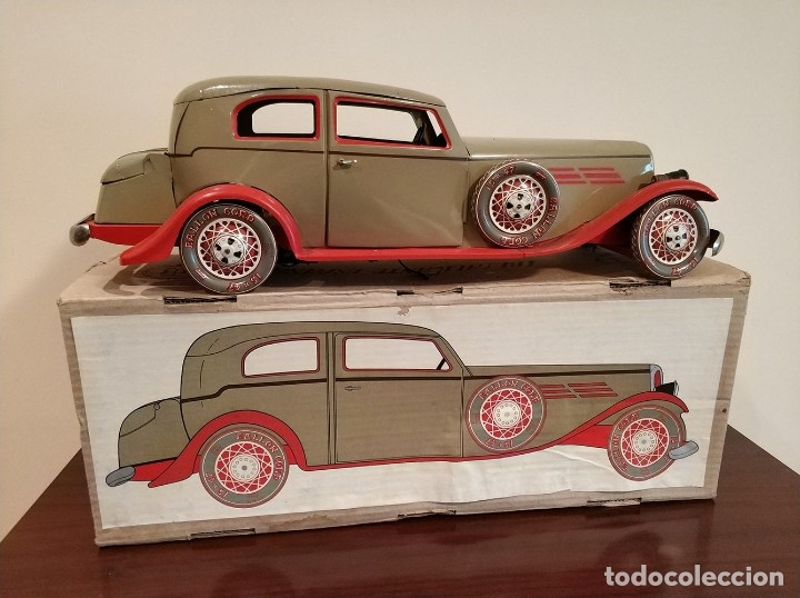 Juguetes antiguos Payá: Auto sedan gran turismo 1935 Ref. 904 de paya edición limitada numerada y en caja, cuerda y luces - Foto 3 - 176091484
