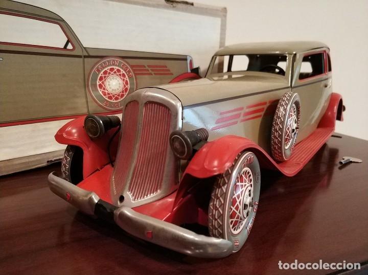 Juguetes antiguos Payá: Auto sedan gran turismo 1935 Ref. 904 de paya edición limitada numerada y en caja, cuerda y luces - Foto 7 - 176091484