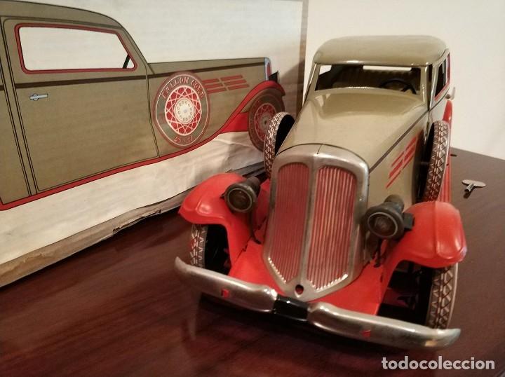 Juguetes antiguos Payá: Auto sedan gran turismo 1935 Ref. 904 de paya edición limitada numerada y en caja, cuerda y luces - Foto 8 - 176091484
