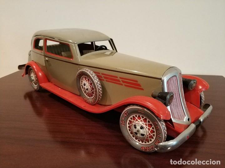 Juguetes antiguos Payá: Auto sedan gran turismo 1935 Ref. 904 de paya edición limitada numerada y en caja, cuerda y luces - Foto 9 - 176091484