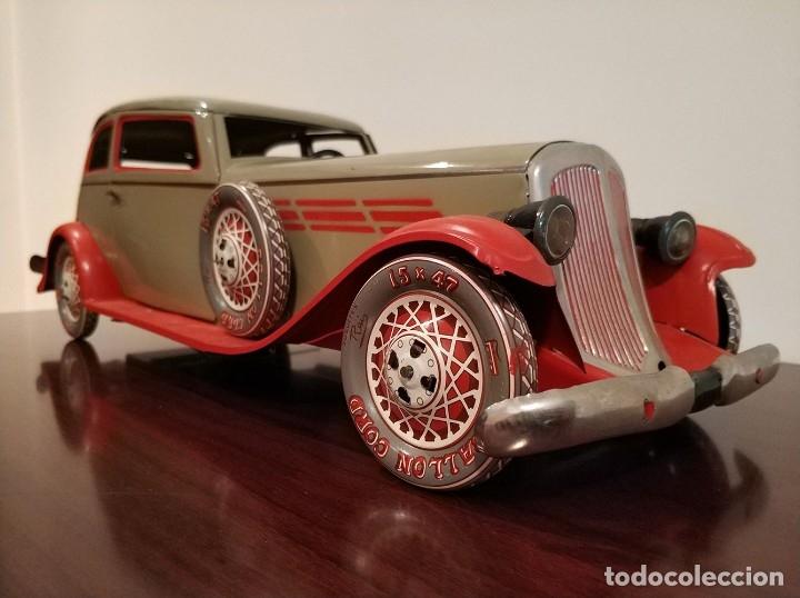 Juguetes antiguos Payá: Auto sedan gran turismo 1935 Ref. 904 de paya edición limitada numerada y en caja, cuerda y luces - Foto 13 - 176091484