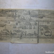 Juguetes antiguos Payá: AUTOMOVILES RAI DE JUGUETES PAYÁ HERMANOS.IBI.ALICANTE.FOLLETO TRÍPTICO PUBLICITARIO.. Lote 176123734
