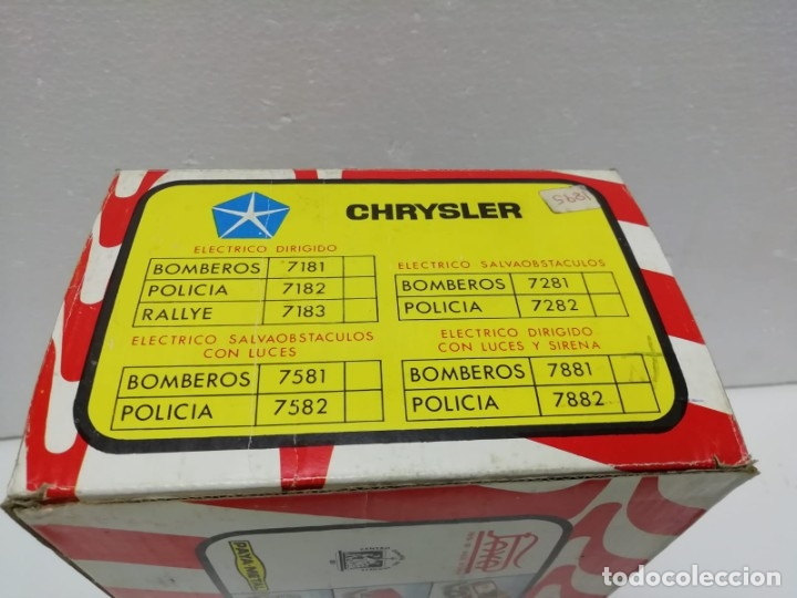 Juguetes antiguos Payá: CAJA VACÍA DE CHRYSLER DE PAYA AÑOS 70-80 - Foto 4 - 178915530