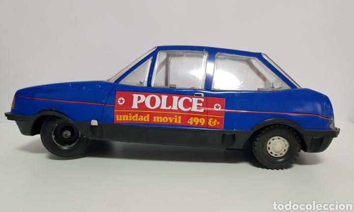 COCHE POLICIA POLICE HOJALATA PAYA VOLVO 343, UNIDAD MÓVIL 499; REF. 7066 (Juguetes - Marcas Clásicas - Payá)