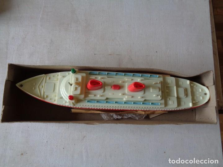 Juguetes antiguos Payá: BARCO TRANSATLANTICO SALVA OBSTACULOS DE PAYA CON SU CAJA .REF 3074 - Foto 6 - 184086383
