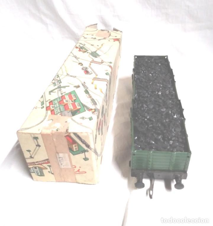 Juguetes antiguos Payá: Vagón Mercancias Carbón de Payá 4 ejes Escala 0 años 40, no jugado con caja. Med. 29 cm - Foto 2 - 189462877