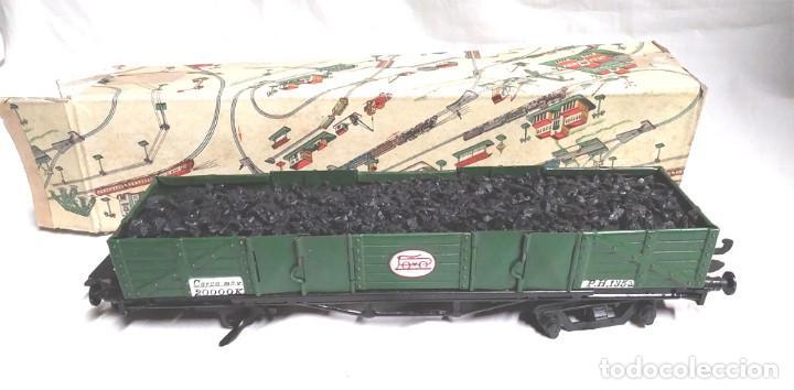 Juguetes antiguos Payá: Vagón Mercancias Carbón de Payá 4 ejes Escala 0 años 40, no jugado con caja. Med. 29 cm - Foto 3 - 189462877