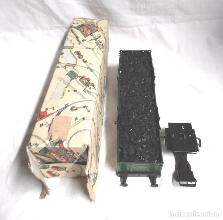Juguetes antiguos Payá: Vagón Mercancias Carbón de Payá 4 ejes Escala 0 años 40, no jugado con caja. Med. 29 cm - Foto 4 - 189462877