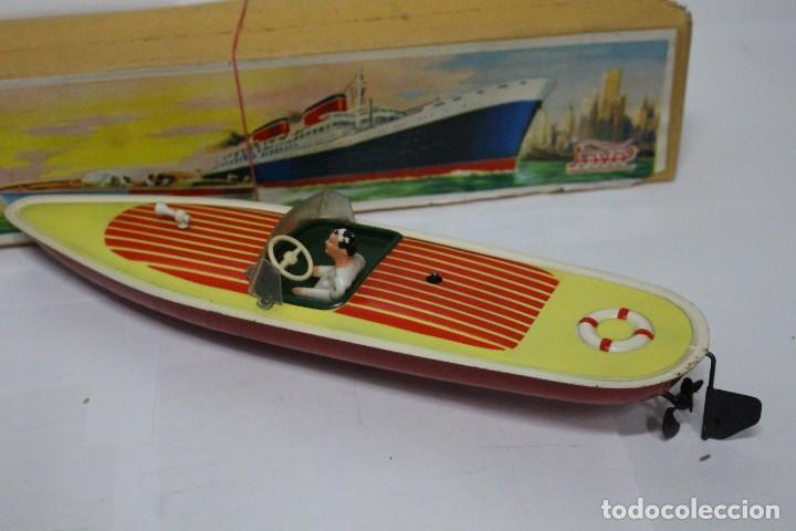 Juguetes antiguos Payá: Lancha 630 Payá con caja original. Años 50. impecable - Foto 3 - 190639463
