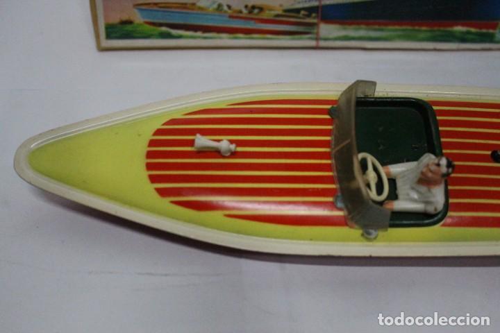 Juguetes antiguos Payá: Lancha 630 Payá con caja original. Años 50. impecable - Foto 5 - 190639463
