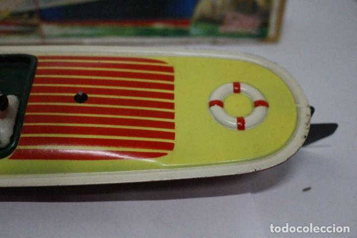 Juguetes antiguos Payá: Lancha 630 Payá con caja original. Años 50. impecable - Foto 9 - 190639463