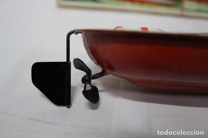 Juguetes antiguos Payá: Lancha 630 Payá con caja original. Años 50. impecable - Foto 14 - 190639463