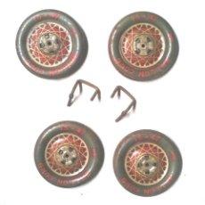 Juguetes antiguos Payá: BALLON CORD 15 X 47 DE PAYÁ JUEGO 4 RUEDAS FLECHA DE PLATA, SEDÁN. MED. 6,50 CM. Lote 191326035