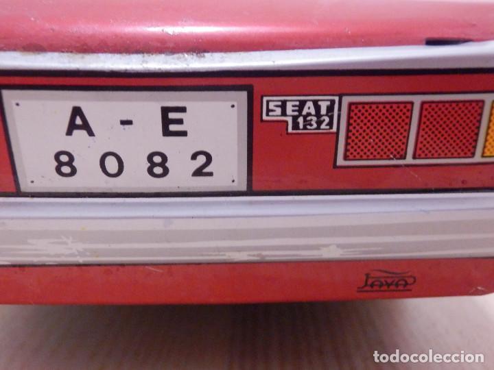 Juguetes antiguos Payá: Coche Payá de hojalata - Seat 132 Jefe Servicio Contra Incéndios, Bomberos Nº 4, Fricción, Ref 8082 - Foto 6 - 191556601