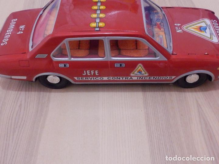 Juguetes antiguos Payá: Coche Payá de hojalata - Seat 132 Jefe Servicio Contra Incéndios, Bomberos Nº 4, Fricción, Ref 8082 - Foto 7 - 191556601