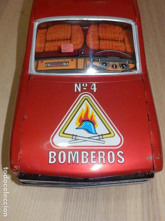 Juguetes antiguos Payá: Coche Payá de hojalata - Seat 132 Jefe Servicio Contra Incéndios, Bomberos Nº 4, Fricción, Ref 8082 - Foto 11 - 191556601