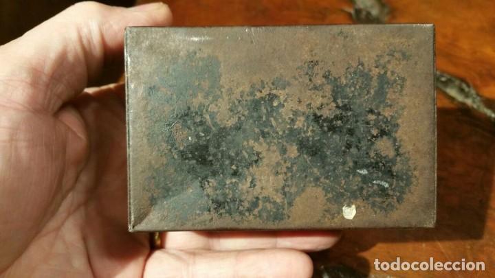 Juguetes antiguos Payá: Antigua hucha o caja de caudales metálica con primer logo Payá Hermanos - Chapa Litografiada - Foto 4 - 191729648