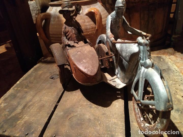 Juguetes antiguos Payá: Antiguo sidecar autentico Tuf Tuf de Payá años 30 tal cual se ha conservado - Foto 2 - 192035483
