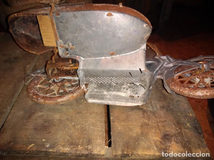 Juguetes antiguos Payá: Antiguo sidecar autentico Tuf Tuf de Payá años 30 tal cual se ha conservado - Foto 3 - 192035483