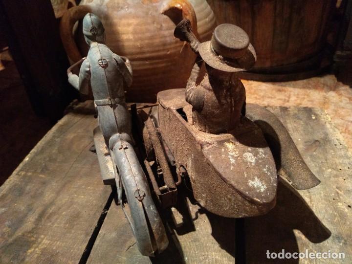 Juguetes antiguos Payá: Antiguo sidecar autentico Tuf Tuf de Payá años 30 tal cual se ha conservado - Foto 5 - 192035483