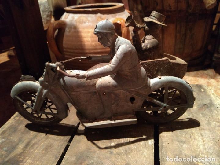 Juguetes antiguos Payá: Antiguo sidecar autentico Tuf Tuf de Payá años 30 tal cual se ha conservado - Foto 6 - 192035483