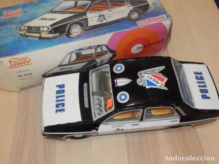 Juguetes antiguos Payá: Coche Payá de hojalata - Renault R-12-S Policia - Police - Nº 247 Ref. 8048 - Fricción - Con caja - Foto 2 - 194143141