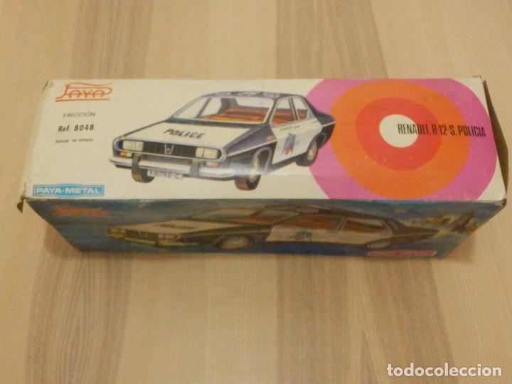 Juguetes antiguos Payá: Coche Payá de hojalata - Renault R-12-S Policia - Police - Nº 247 Ref. 8048 - Fricción - Con caja - Foto 18 - 194143141