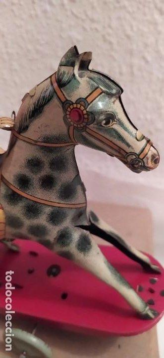 Juguetes antiguos Payá: Payaso a caballo de Payá ref. 846 con caja original y funcionando. Ver descripción. Original 1937 - Foto 8 - 198051788
