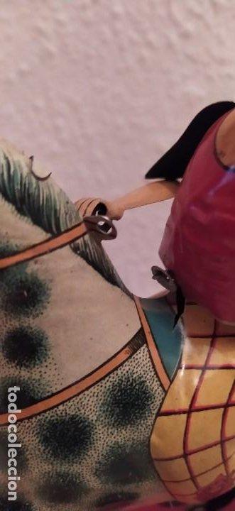 Juguetes antiguos Payá: Payaso a caballo de Payá ref. 846 con caja original y funcionando. Ver descripción. Original 1937 - Foto 7 - 198051788