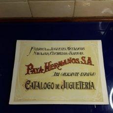 Giocattoli antichi Payá: CATALOGO DE JUGUETES PAYA. Lote 202007675