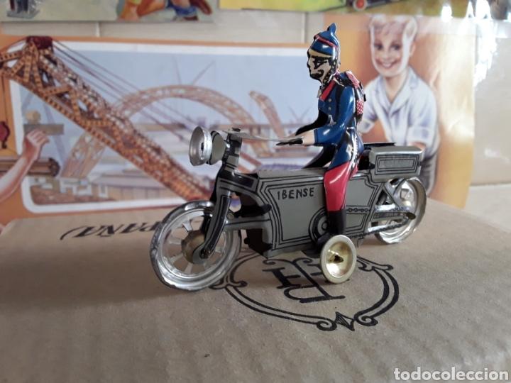 Juguetes antiguos Payá: Paya historico numerado (motocicleta con soldado) n° 1503 de 5000,en su caja original y certificado - Foto 2 - 204257582