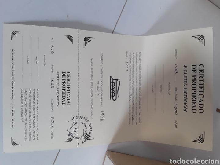Juguetes antiguos Payá: Paya historico numerado (motocicleta con soldado) n° 1503 de 5000,en su caja original y certificado - Foto 4 - 204257582