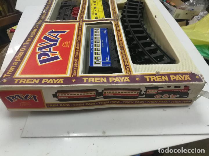 Juguetes antiguos Payá: ANTIGUO TREN ELECTRICO PAYA REF. 2564 PLASTICO Y HOJALATA, CAJA CON DEFECTOS - Foto 5 - 204972407