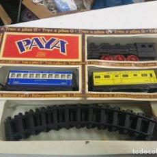 Juguetes antiguos Payá: ANTIGUO TREN ELECTRICO PAYA REF. 2564 PLASTICO Y HOJALATA, CAJA CON DEFECTOS. Lote 204972407