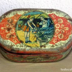 Juguetes antiguos Payá: PAYA CABAS DE HOJALATA LITOGRAFIADA ORIGINAL AÑOS 1910-20. Lote 206759135