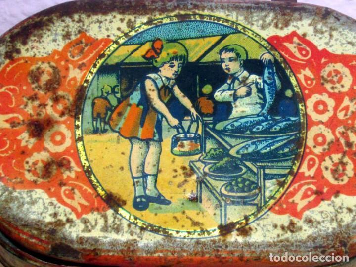 Juguetes antiguos Payá: PAYA CABAS DE HOJALATA LITOGRAFIADA ORIGINAL AÑOS 1910-20 - Foto 2 - 206759135