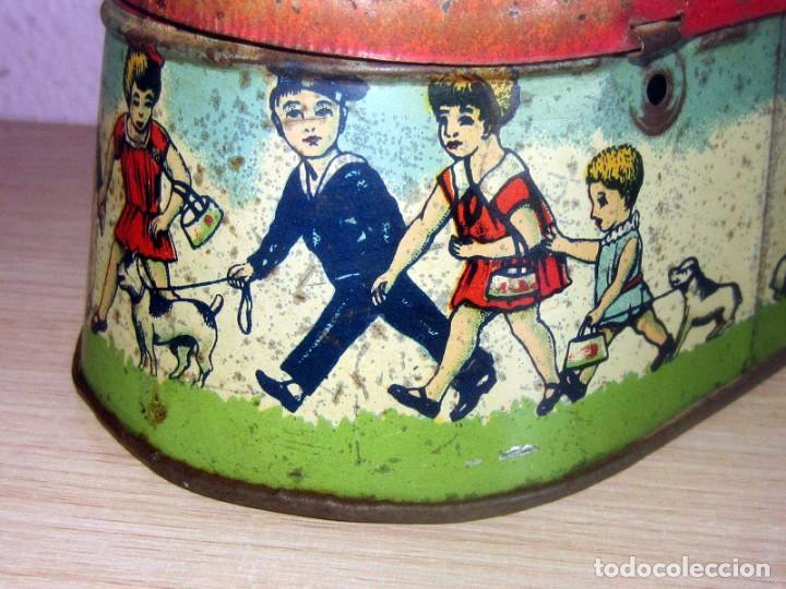 Juguetes antiguos Payá: PAYA CABAS DE HOJALATA LITOGRAFIADA ORIGINAL AÑOS 1910-20 - Foto 6 - 206759135