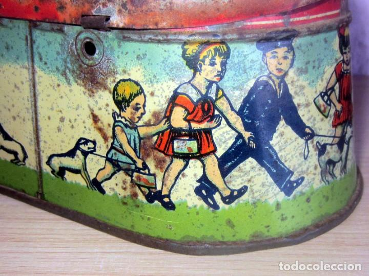 Juguetes antiguos Payá: PAYA CABAS DE HOJALATA LITOGRAFIADA ORIGINAL AÑOS 1910-20 - Foto 8 - 206759135