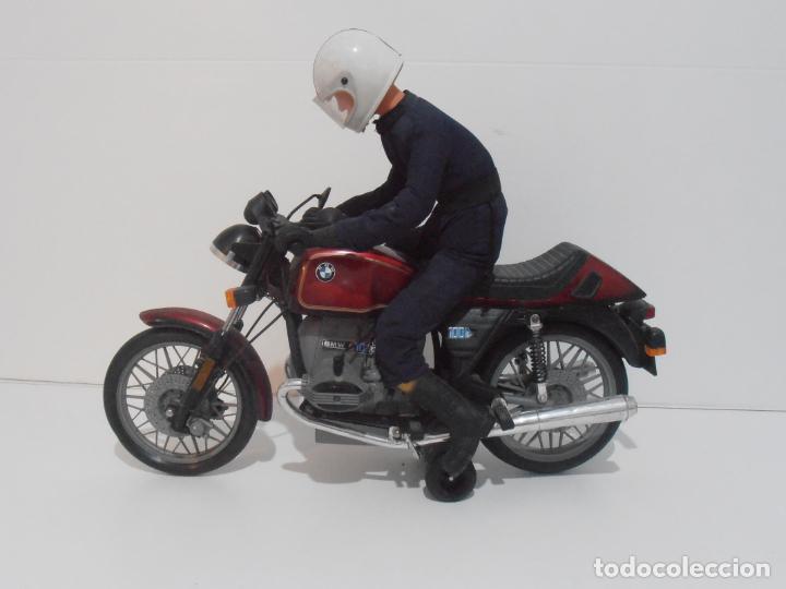 MOTO BMW R100 PAYA CON MOTORISTA, REF 3201, AÑOS 80 (Juguetes - Marcas Clásicas - Payá)