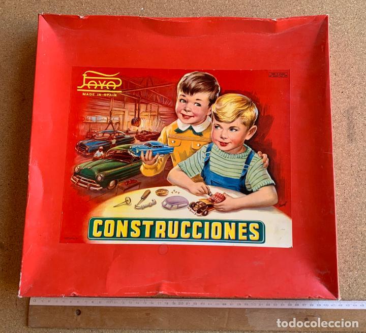CAJA CONSTRUCCIONES PAYA . AUTOMOVILES . CATALOGO . HOJA RECLAMACIONES . AÑOS CINCUENTA . (Juguetes - Marcas Clásicas - Payá)