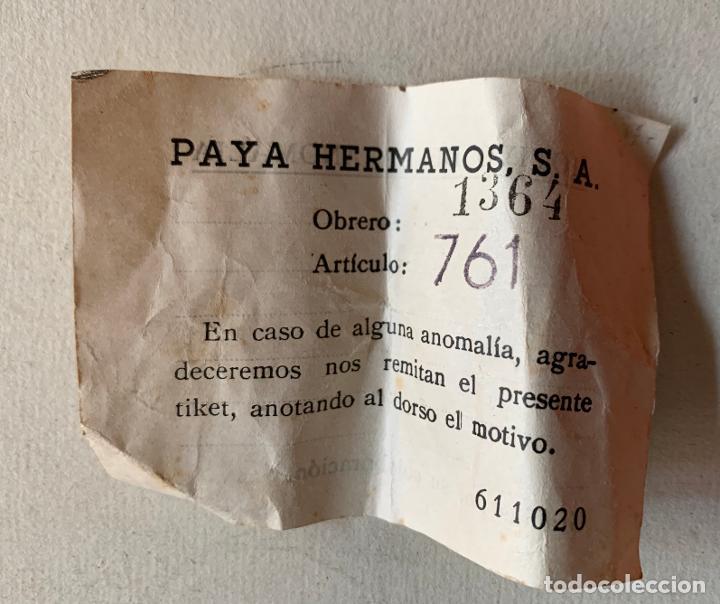 Juguetes antiguos Payá: CAJA CONSTRUCCIONES PAYA . AUTOMOVILES . CATALOGO . HOJA RECLAMACIONES . AÑOS CINCUENTA . - Foto 14 - 217534413