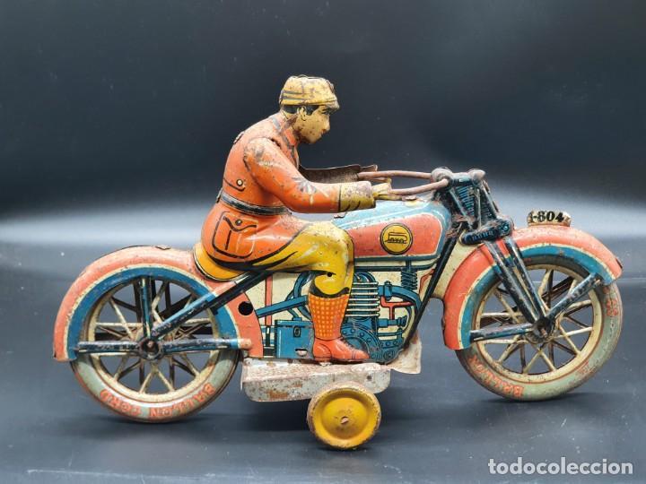 Juguetes antiguos Payá: Moto de Paya primera epoca años 30 - Foto 2 - 219106201