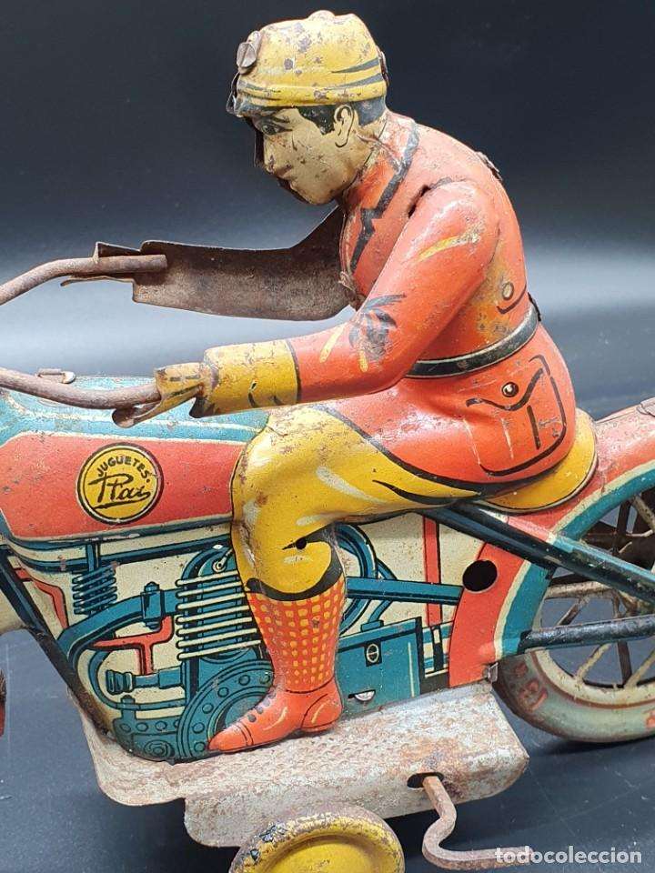 Juguetes antiguos Payá: Moto de Paya primera epoca años 30 - Foto 3 - 219106201