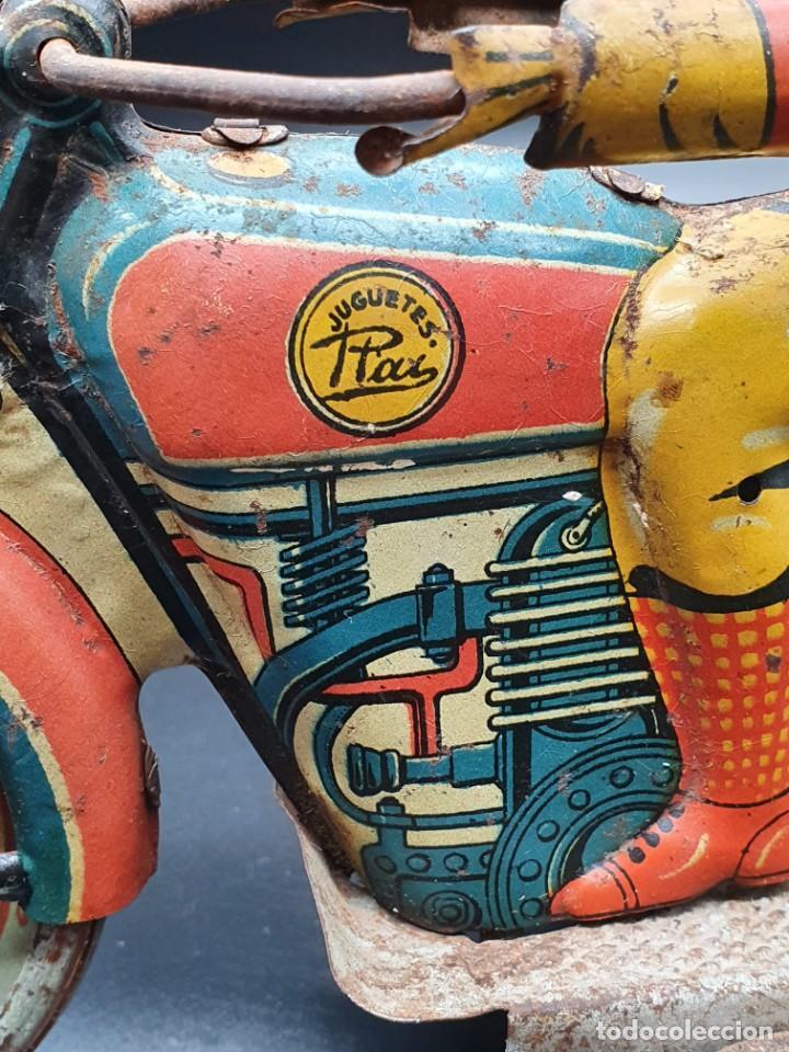 Juguetes antiguos Payá: Moto de Paya primera epoca años 30 - Foto 4 - 219106201