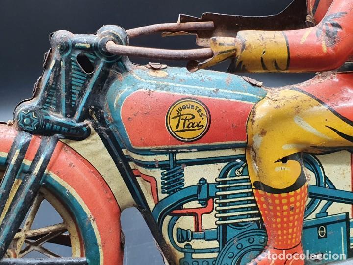 Juguetes antiguos Payá: Moto de Paya primera epoca años 30 - Foto 5 - 219106201