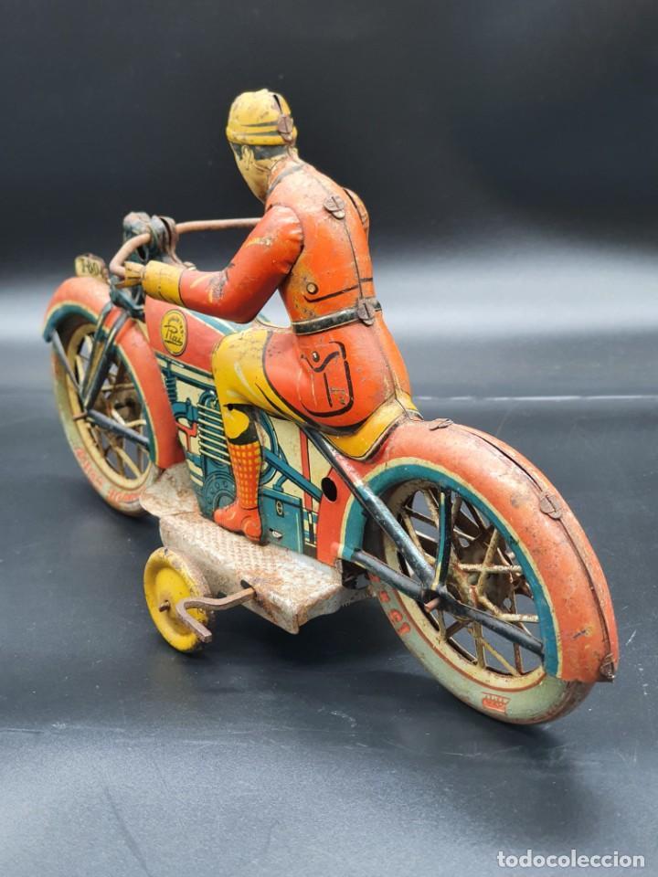 Juguetes antiguos Payá: Moto de Paya primera epoca años 30 - Foto 6 - 219106201