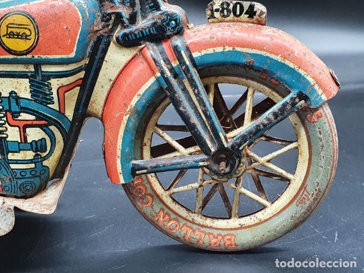 Juguetes antiguos Payá: Moto de Paya primera epoca años 30 - Foto 7 - 219106201