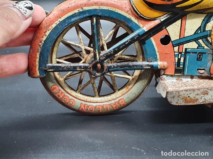 Juguetes antiguos Payá: Moto de Paya primera epoca años 30 - Foto 9 - 219106201